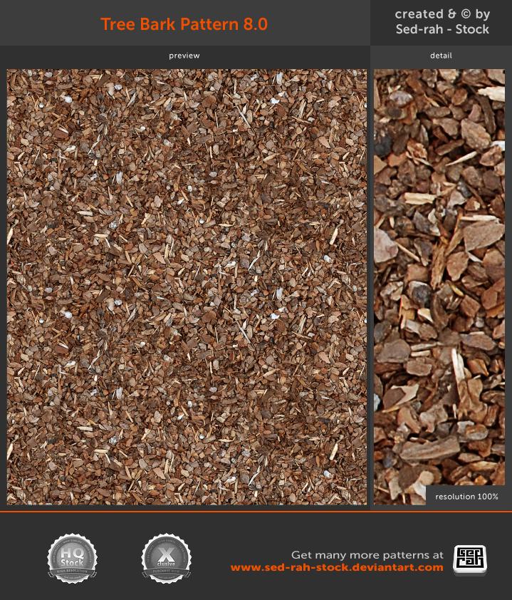 Tree Bark Pattern 8.0 by Sed-rah-Stock