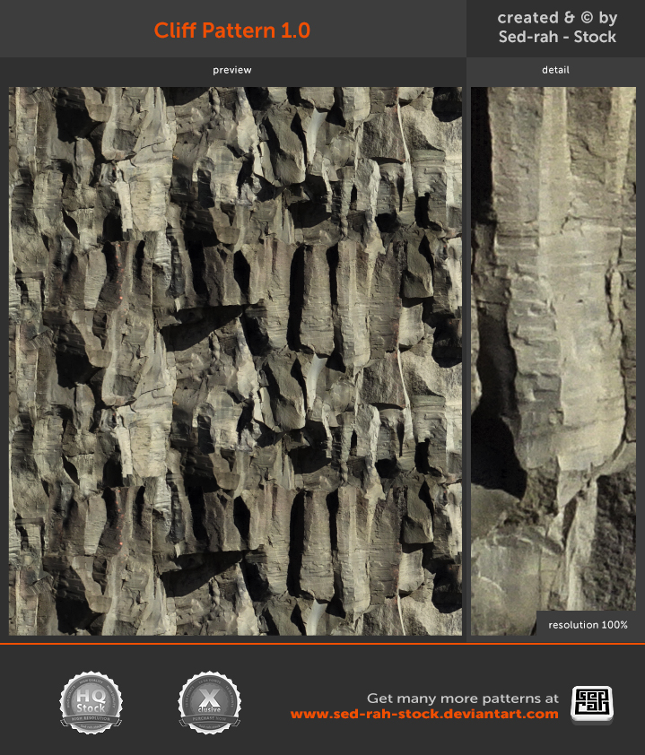 Cliff Pattern 1.0 by Sed-rah-Stock