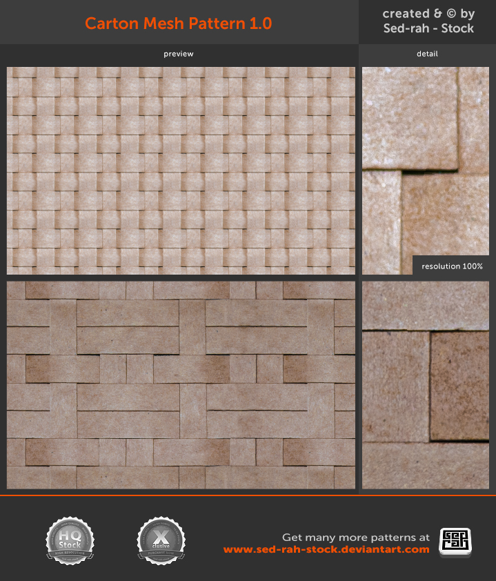 Carton Mesh Pattern 1.0 by Sed-rah-Stock