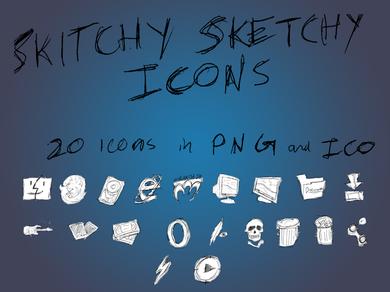 Skitchy Sketchy Icon Set