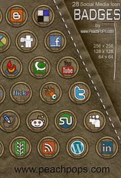 28 Social Media Icon Badges