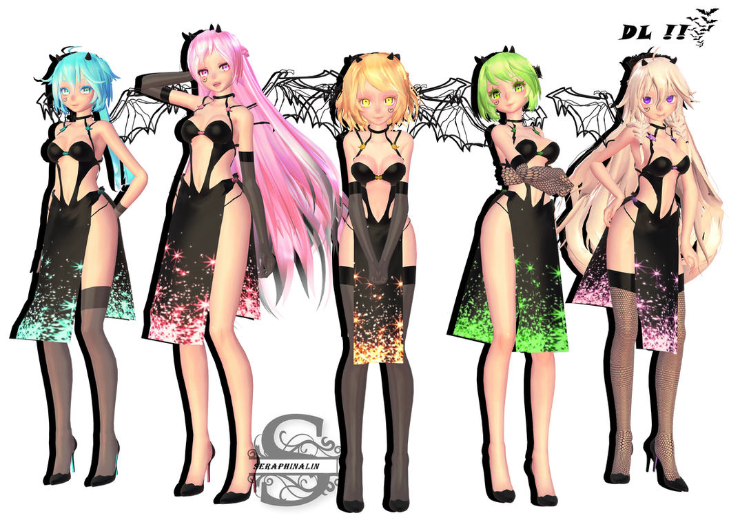 Tda Black Beauties : DL !! by Evelyn-sama