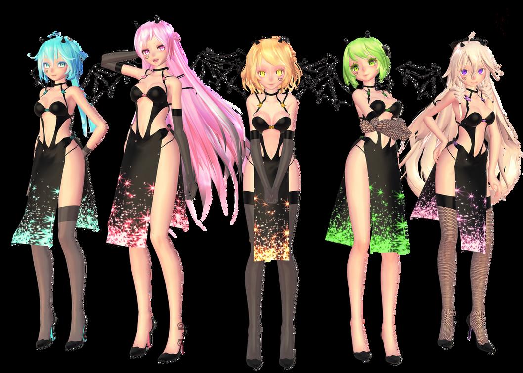 Tda Black Beauties : DL !! by Evelyn-sama