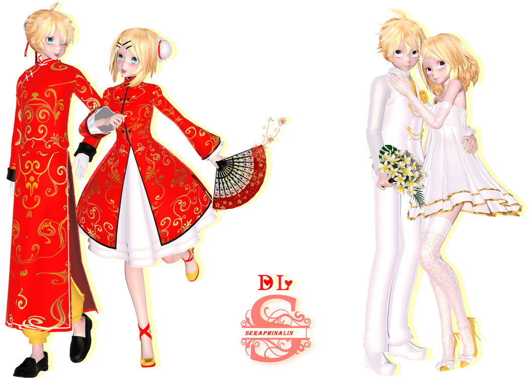 Tda Len X Rin Pack 2 : DL !! by Evelyn-sama