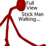 its a stick man walking..