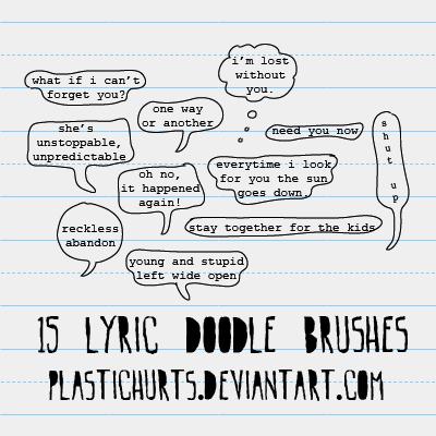 Doodle Lyric Brushes by plastichurts