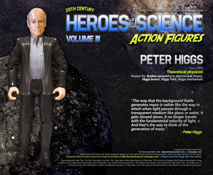 Heroes of Science: Peter Higgs by datazoid
