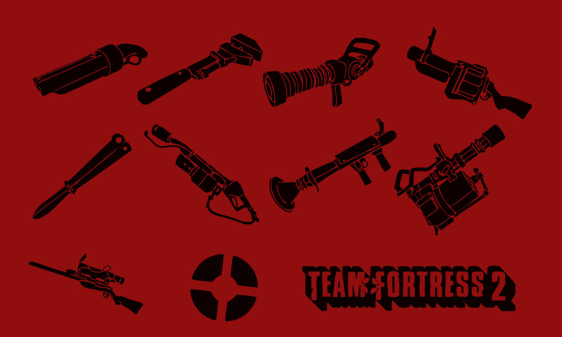 TF2 - Weapon Photoshop Brushes by wizardino