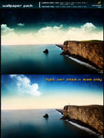 cliff - 2 ver. wallpaper pack by mpk2