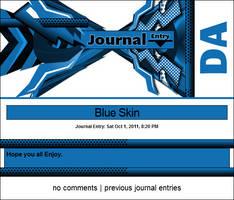 Blue Journal Skin