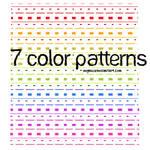 7 color patterns