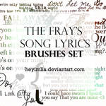 The Fray's songlyrics Brushes