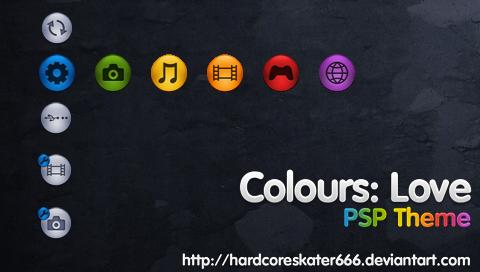 Colours: Love - PSP Theme by HardcoreSkater666