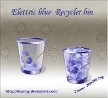 Elettric Blue Recycler bin by ilnanny