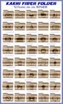 Khaki fiber folder