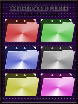 Solid Colored Folders