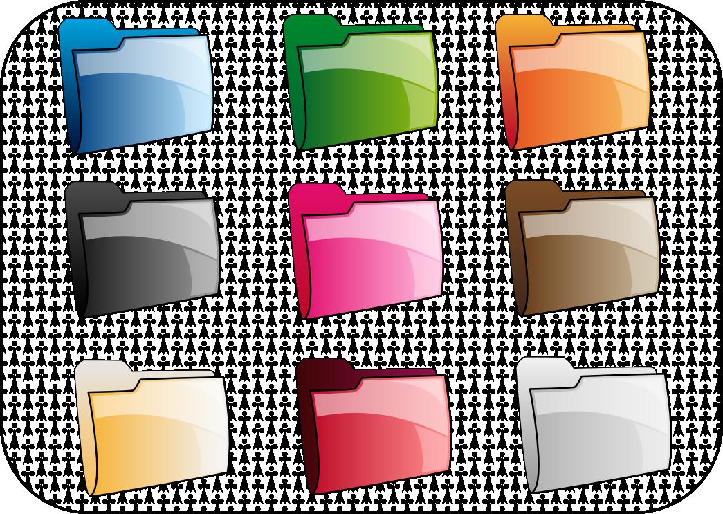 Rainbow folders by ilnanny