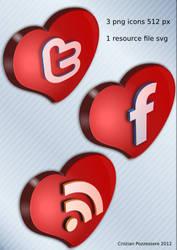 Social Heart by ilnanny