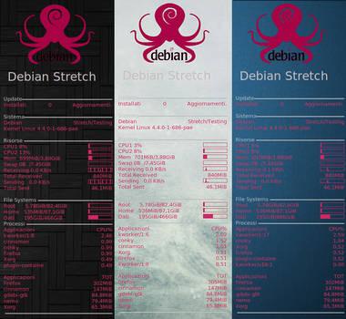 Debian Stretch (conky theme) by ilnanny