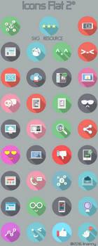 Icons circle flat