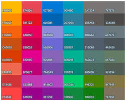 Flat-bare-colors 'Gimp-inkscape-palettes'
