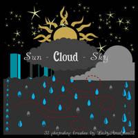 Sun - Cloud - Sky Brushes by Karolina-Borkowski