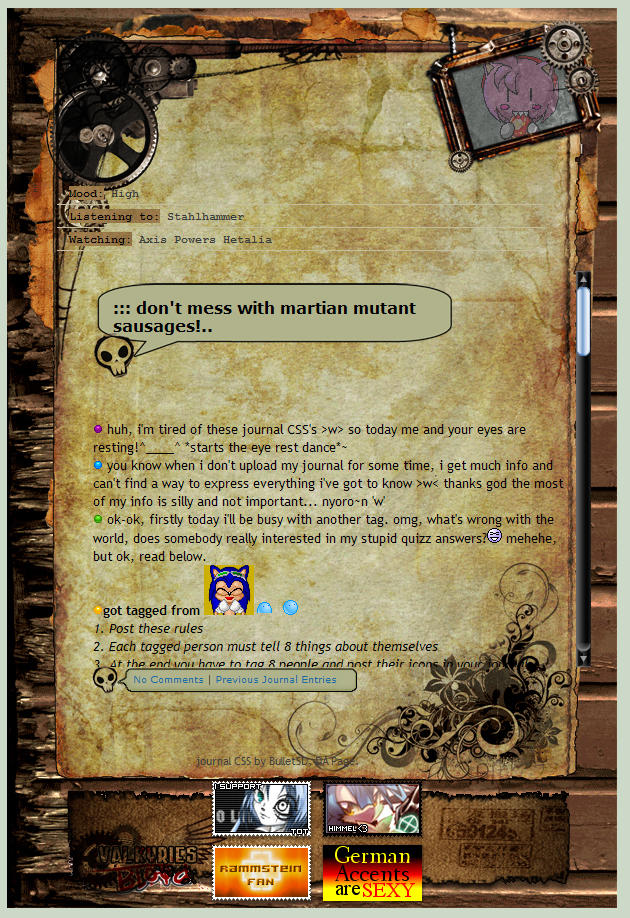 Journal CSS Steampunk-gothic