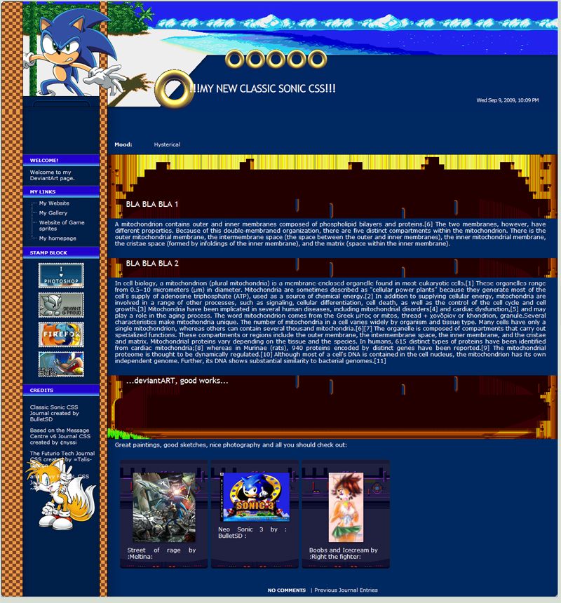 Classic Sonic CSS Journal