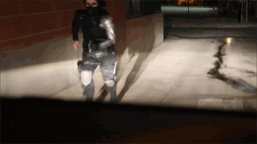 Winter Soldier Cosplay (GIF) - Nervous yet?