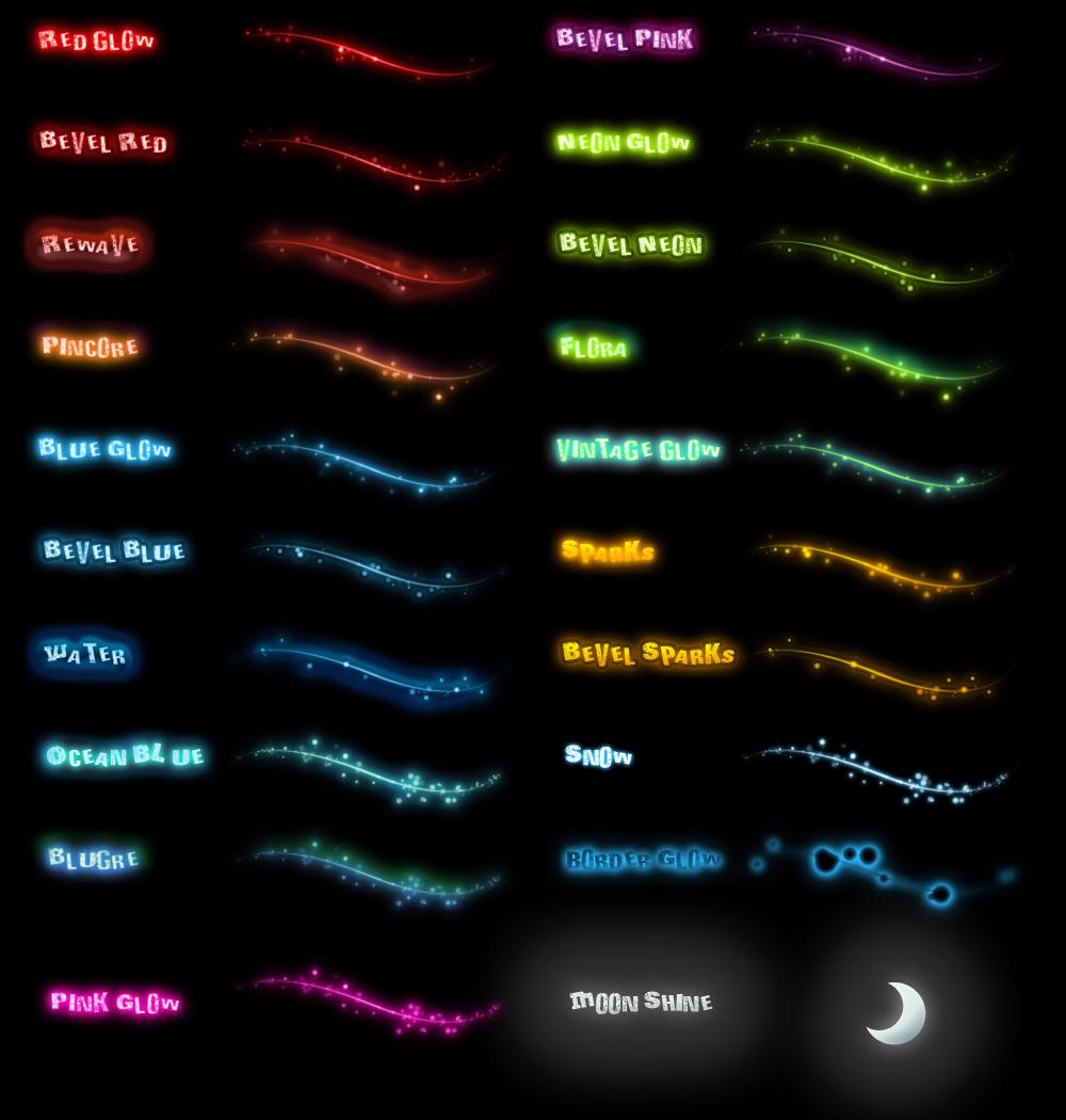 Glow Styles v.2 by Idered on DeviantArt