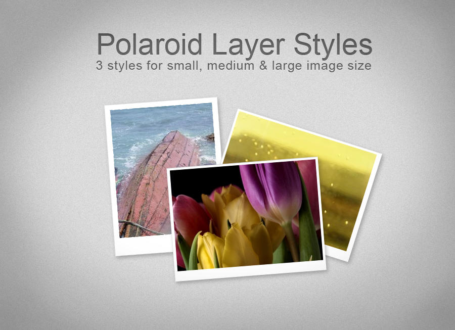 Polaroid Layer Styles by Idered