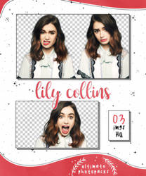 Png Pack 33 - Lily Collins by ultimatephotopacks