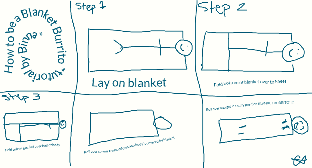 How To Be A Blanket Burrito By 99bink On Deviantart