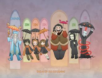 Harry Potter: Umbrella (updated) by daekazu
