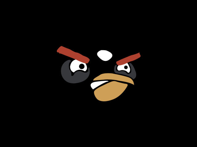 AngryBirds WallpaperPack-BLACK by XaraaKay
