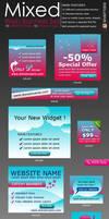 Mixed Web Banners Set