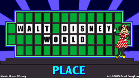 Minnie Mouse on Wheel of Fortune