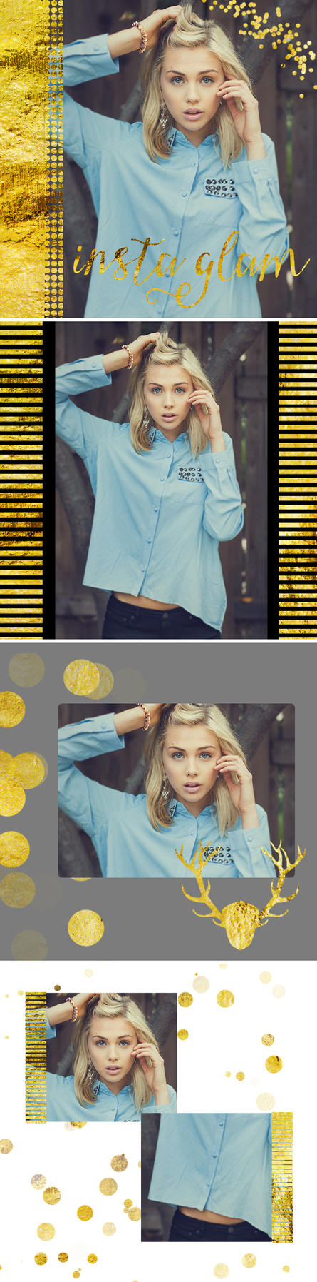 4 Insta Glam Instagram PSD Templates by toxiclolley88