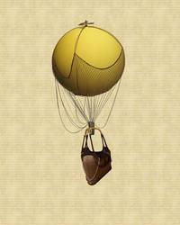 Hot Air Balloon Stock PSD by JinxMim