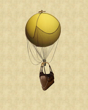 Hot Air Balloon Stock PSD