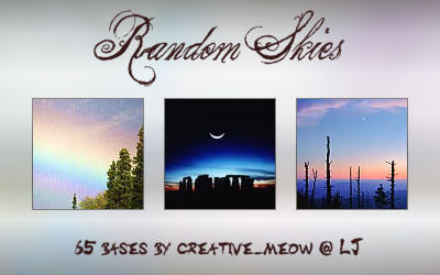 Icon Bases: Random Skies by Sardistri