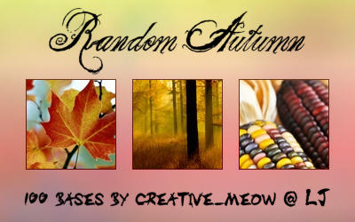 Icon Bases: Random Autumn by Sardistri