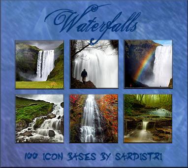 Icon Bases: Waterfalls by Sardistri