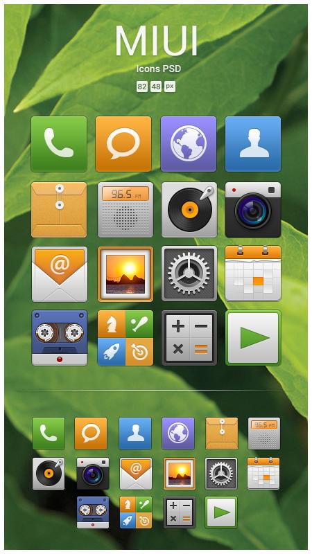 MIUI Icons PSD by jospinoj
