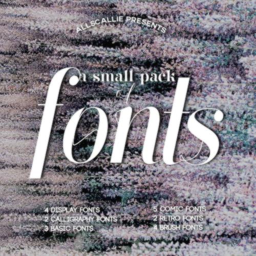 Mini Fonts Pack By Allscallie by allscallie on DeviantArt