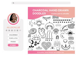 CHARCOAL DOODLES BRUSHES pack by allscallie