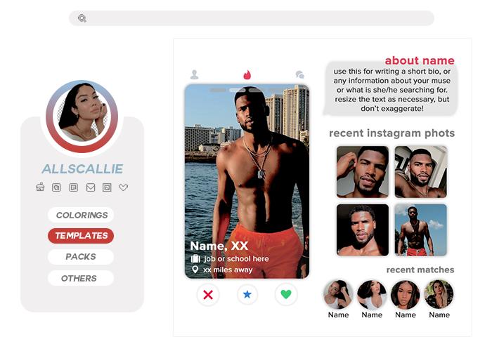 Tinder Profile Template By Allscallie By Allscallie On Deviantart