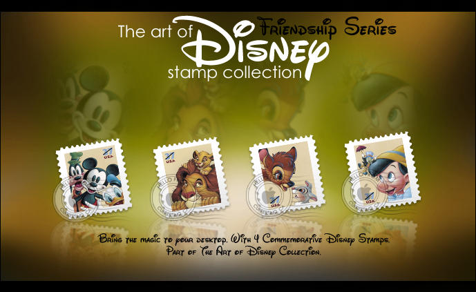 Disney Stamps- Friendship by imwalkingwithaghost