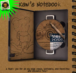KAWS Notebook- THANK YOU by imwalkingwithaghost