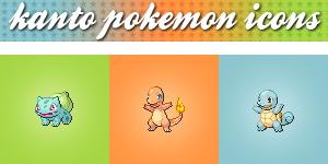 Kanto Pokemon Icons by Shade-EX